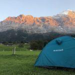 スイス・グリンデルワルドのキャンプ場 テント泊するならここ!!!